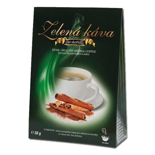 Zelená káva so škoricou