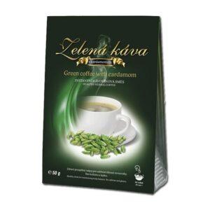 Zelená káva s kardamomom
