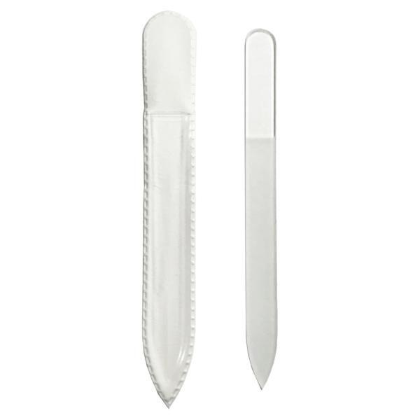 Pilník sklenený 13,5cm čírý obojstranný
