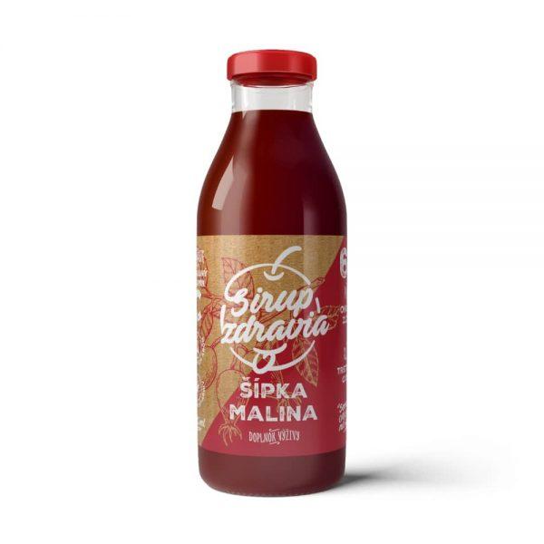 Sirup zdravia Malina + Šípka